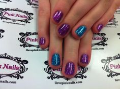 Purple and Blue Rock Star Nails