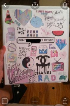 This is literally the cutest awesomest binder ever!!! I LOVE THIS SOOOO MUCH