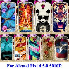 Flexible Soft TPU Cell Phone Cases For Alcatel OneTouch Pixi 4 5.0 inch OT-5010 5010D 3G Version Housing Skin Shell Covers #clothing,#shoes,#jewelry,#women,#men,#hats,#watches,#belts,#fashion,#style