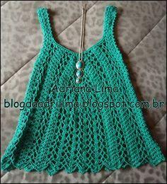 Adriana Lima: Batinha em crochê com linha Charme