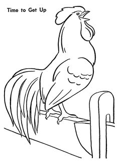 Farm Animal Coloring Page, Farm Rooster Chicken coloring pages featuring hundreds of farm animals coloring page sheets. Chicken Coloring Pages, Farm Animal Coloring Pages, Colouring Pages, Coloring Sheets, Coloring Books, Chicken Crafts, Chicken Art, Chickens And Roosters, Pet Chickens