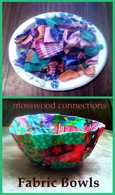 Fabric Bowls DIY Gift