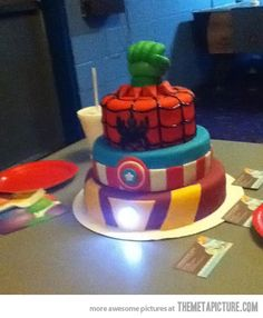 Homemade Avengers Birthday Cake