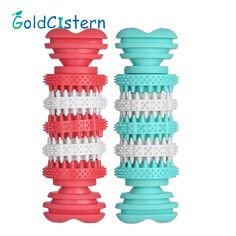 Resistant To Bite Dog Puppy Molars Rubber Stick Pet Dog Toys Teeth Training Thermoplastic Rubber Drain Food Sticks 2 Color 1pcs #Affiliate