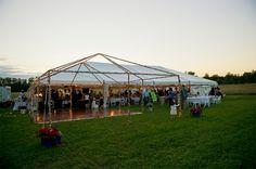 Wedding tent in Door County Wisconsin