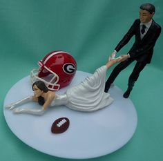 Too funny I love it!!! Wedding Cake Topper University of Georgia Bulldogs UGA G by WedSet, $59.99