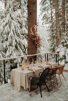 Snow Wedding, Space Wedding, Forest Wedding, Elope Wedding, Dream Wedding, Wedding Dinner, Winter Wedding Receptions, Wedding Venues, Winter Weddings