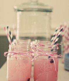 baby shower theme drinks Sprite with pink lemonade & blue berries! Could do non-alcoholic and one with alcohol