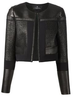 Shop women's designer bolero jackets online now at Farfetch. Find stylish cropped jackets from top brand names at elite boutiques Blazer Jacket, Leather Jacket, Collarless Jacket, Office Fashion Women, Womens Fashion, Jackett, Blazers, Jacket Style, Mantel