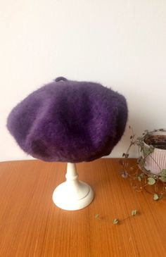 Ladies/vintage/beret/purple/angora/wool/bohemian/boho chic/Kangol/British/artistic/winter/fashion forward/lux/funky/stylish/statement piece by TheSilkyWeasel on Etsy https://www.etsy.com/se-en/listing/472445912/ladiesvintageberetpurpleangorawoolbohemi