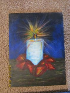 Holiday Candle painting for sale!!!!!