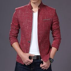 36 Brilliant Men's Color Combinations Outfit - 36 Brilliant Men's Color Combinations Outfit * bikeboulevards - Mens Casual Blazer Jacket, Mens Fashion Blazer, Mens Fashion Wear, Mens Fashion Blog, African Men Fashion, Men's Summer Fashion Trends, Color Combinations For Clothes, Mens Style Guide, Blazers For Men
