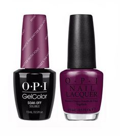 OPI GelColor + Matching Lacquer What's The Hatter With You? #BA3