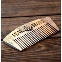 On 1 Day Personalized Wooden Comb Fear the Beard Engraved Comb for Men... ($5.60) ❤ liked on Polyvore featuring men's fashion, men's grooming, men's shaving, accessories, decorative combs, grey and hair accessories