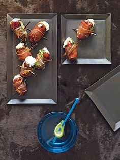 Dates with Goat Cheese Wrapped in Prosciutto = explosion of flavors in your mouth