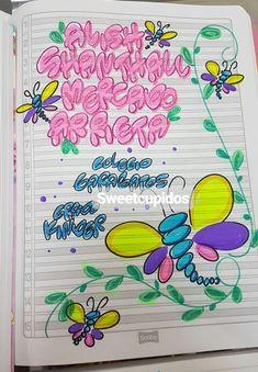 Typography, Lettering, Decorate Notebook, Foam Crafts, My Notebook, Letterpress, Creative Design, Grammar Book, Lily