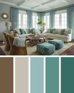 21 Living Room Color Schemes That Express Yourself. Living Room Color Scheme that will Make Your Space Look Elegant. These living room color schemes will affect how the guests perceive the interior of your home. Let's enjoy these ideas and feel pleasure! Good Living Room Colors, Living Room Color Schemes, Living Room Paint, Living Room Interior, Living Room Designs, Colorful Living Rooms, Living Room Brown, Curtain Ideas For Living Room, Home Color Schemes