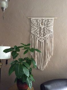 Large Macrame Wall Hanging Macrame Home Decor by MacrameElegance -Grand opening sale $180.00