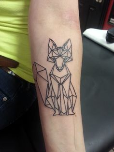 My Geometric Fox! Done at Bears Skin Tattoos in Stratford, ON by Iris Art!