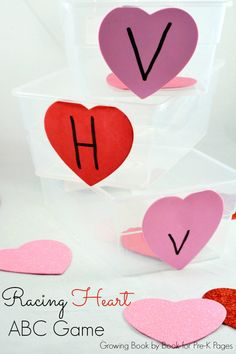 Valentine Racing Hearts ABC Game - This Valentine Heart ABC Racing Game is a great way to motivate kids to learn and move at the same time.
