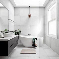 bathroom ideas modern / bathroom ideas - bathroom ideas small - bathroom ideas on a budget - bathroom ideas modern - bathroom ideas master - bathroom ideas apartment - bathroom ideas diy - bathroom ideas small on a budget Family Bathroom, Budget Bathroom, Master Bathroom, White Bathroom, Colorful Bathroom, Shower Bathroom, Bathroom Vanities, Bathroom Large Tiles, Small Bathroom Bathtub