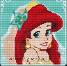 Ariel perler bead pattern