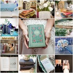 Literary-Themed Wedding Decor