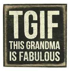 Is your grandma the greatest?  Show her a little love with this cute rustic wooden sign.