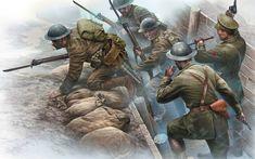 British infantry assault