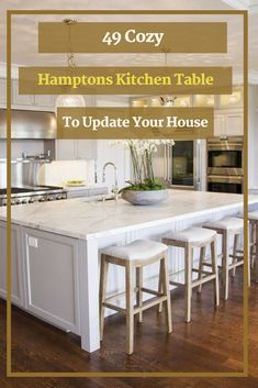 49 Cozy Hamptons Kitchen Table To Update Your House #kitchen #kitchentable Hamptons Kitchen, The Hamptons, Home Renovation, Kitchen Remodel, Cozy, Table, House, Furniture, Home Decor