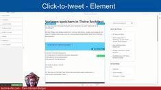 """Mit dem """"Click-to-Tweet""""-Element im Thrive Architect kannst du ganz einfach ein Zitat auswählen, das deine Webseiten-Besucher*innen dann durch einen Klick tweeten können. Ich finde dieses Element sehr praktisch - gleich aus mehreren Gründen. Welche Gründe das sind, verrate ich dir in diesem Blogartikel. #wordpress #technikelfe Wordpress, Youtuber, Tutorials, Mini, Website, Quotes, Simple, Wizards"""