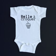 Belle chewable onesie Onesie Baby Girl by BonjourTresor on Etsy Onesies, Model, Cotton, Cricut, Baby, Kids, Clothes, Fashion, Bonjour