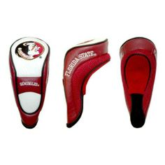 NCAA Florida State Hybrid Team Golf Club Head Cover by Team Golf. $17.99. Velcro closure. Made with Buffalo Vinyl, Polyester Knit and Mesh. Fits all utility, rescue and fairway clubs. Velour lined for extra club protecion. School spirit isn't something you leave at home. Take your school pride to the links with the NCAA® hybrid headcover from Team Golf®. The easy on/off cover fits all hybrid and utility clubs, and even many fairway clubs. The cover boasts simulated leathe...