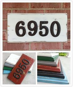 Rustic House Number Sign. $25.00, via Etsy.