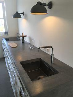 Homemade #kitchen #betoncire #kvikkitchen industrial nature design