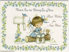 New year Vintage Cards, Scraps, happy new year wishes