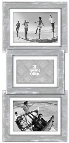 Malden Beveled Panel Gray Wash Picture Frame