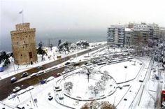 Θεσσαλονίκη 2013 - Thessaloniki Arts and Culture Greek History, Thessaloniki, Winter Day, Greece, Snow, Culture, Places, Outdoor, Art