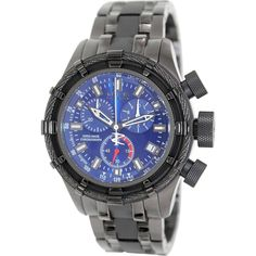 Invicta Men's Bolt 80551 Black Stainless Steel Swiss Chronograph Watch | Overstock.com Shopping - The Best Deals on Invicta Men's Watches