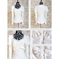 Chemise femme manches longues bouffant en coton blanc col carré