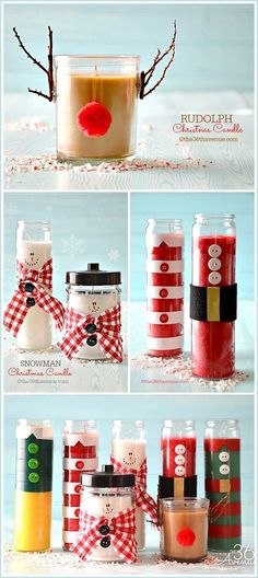 Christmas Gifts - Candles Tutorial at the36thavenue.com ...Pin it now and make them later!: