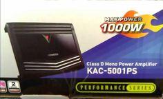 Kenwood KAC-5001PS 1000 w Class D 1-Ch Monoblock Amplifier #Kenwood