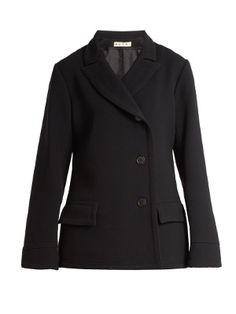 Notch-lapel double-crepe jacket  | Marni | MATCHESFASHION.COM US