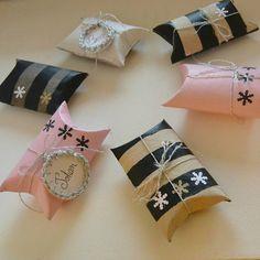 DIY paquet cadeau et marque place !!! Avec du papier toilette !