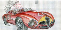 Alfa Romeo Centenary :: Les Illustrations de Lapin