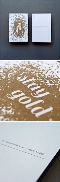 Stay Gold #postcard | Designed by Redhead Design Studio  #design #print #cards