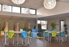 Aula, werkplek, lunchruimte, ontvangst Artwork: Interieurontwerp Susan Burgers Element ontwerp & uitvoering Fotografie Conny van Dilst