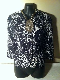 EAST 5TH Women's Black & White Designer Blazer Jacket Size PM #east5th #Blazer