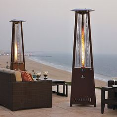 Make your patio a living space year-round with outdoor heaters from Frontgate. Shop propane heaters, infrared heat lamps and more to warm any area. Outdoor Heaters, Patio Heater, Outdoor Spaces, Outdoor Living, Outdoor Decor, Outdoor Ideas, Outdoor Projects, Outdoor Furniture, Porche