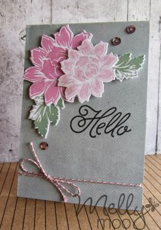 Hello everyone! Today we have our winner of Challenge and guest designer Rebecca from Mellymoo Papercrafting with us to share a r. Flower Cards, Studio, Hello Everyone, Cardmaking, Designer, Card Ideas, Challenges, Bloom, Design Inspiration
